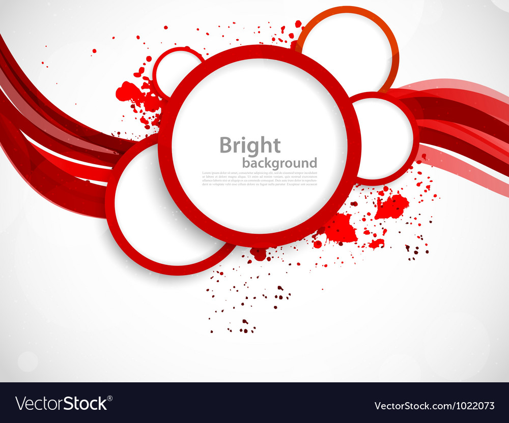 Background with red circles vector | Price: 1 Credit (USD $1)