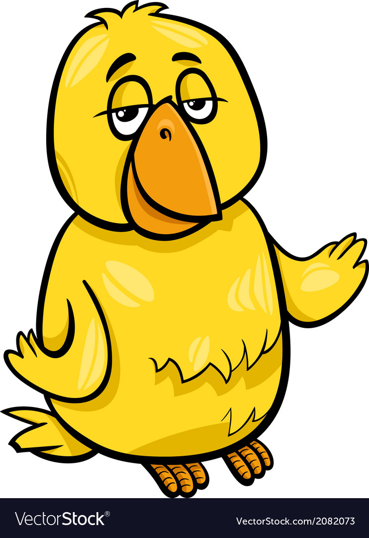 Canary bird character cartoon vector | Price: 1 Credit (USD $1)