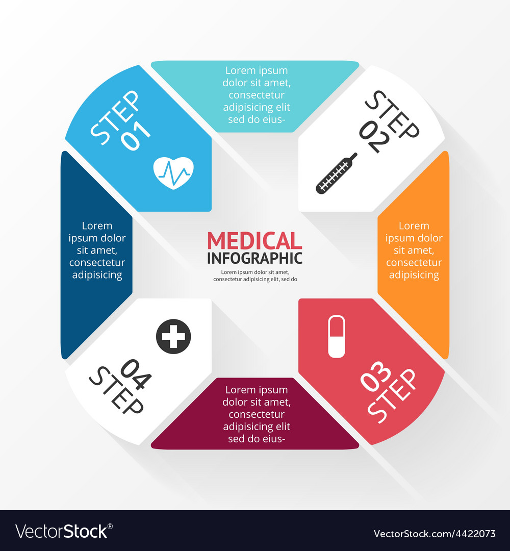 Circle plus sign infographic template for vector   Price: 1 Credit (USD $1)