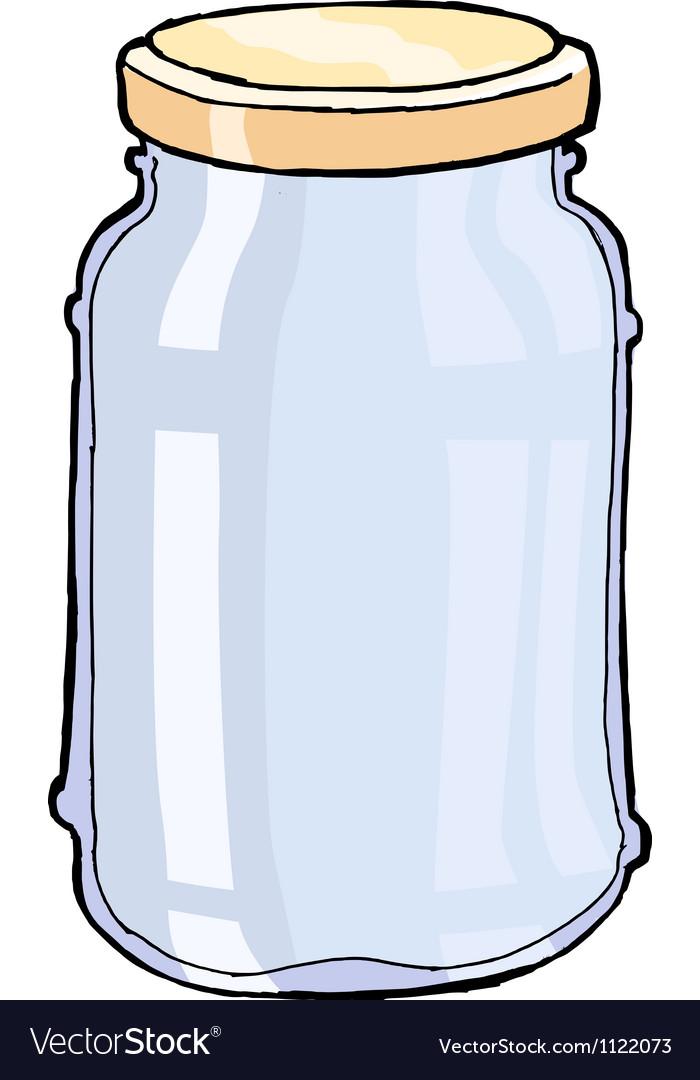Glass jar vector | Price: 1 Credit (USD $1)