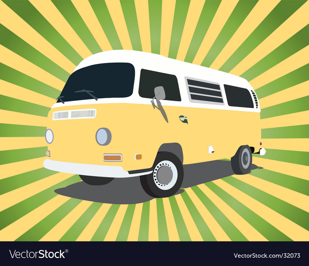 Groovy bus vector | Price: 1 Credit (USD $1)