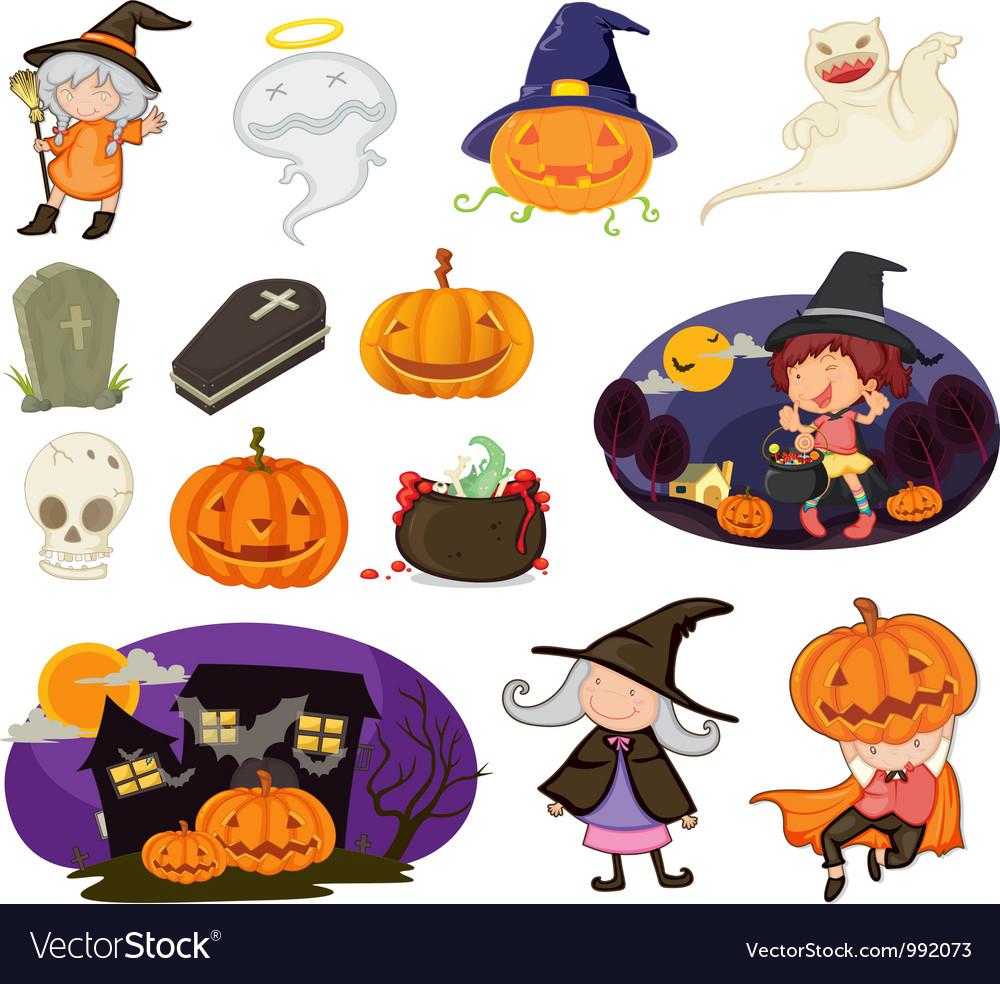 Halloween items vector | Price: 1 Credit (USD $1)