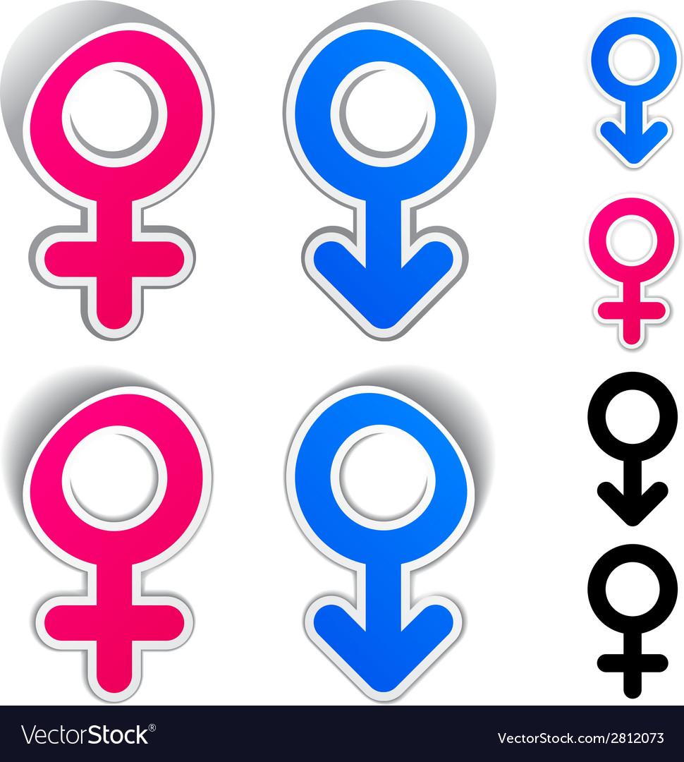 Male female symbols vector | Price: 1 Credit (USD $1)