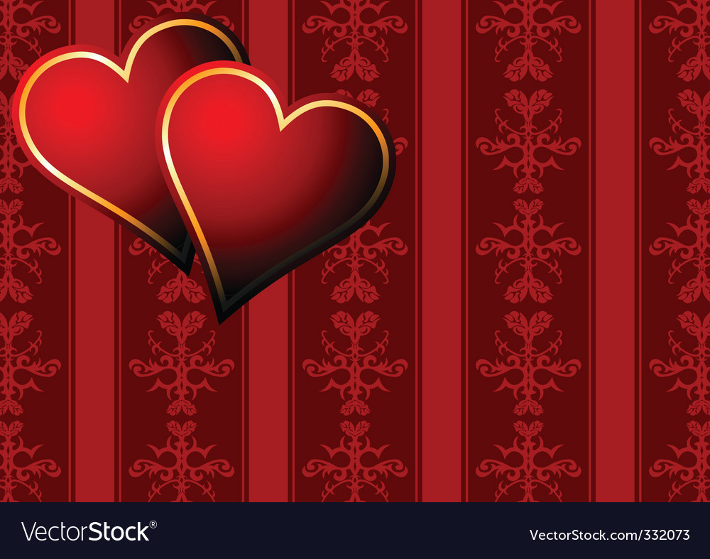 Vintage hearts wallpaper vector | Price: 1 Credit (USD $1)