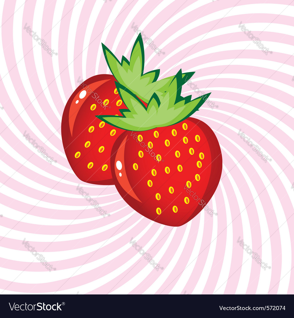 Appetizing strawberry vector | Price: 1 Credit (USD $1)
