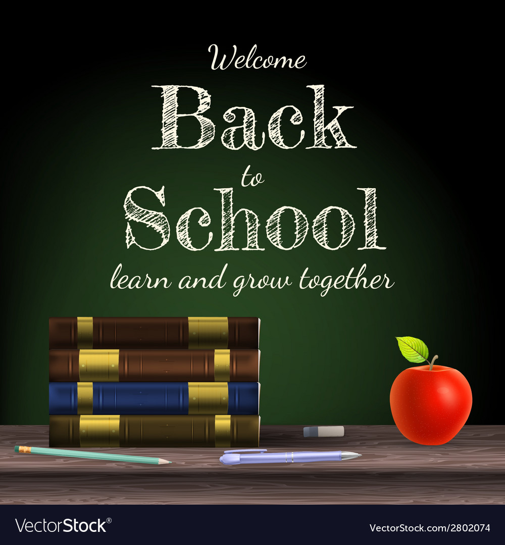 Back to school school books eps 10 vector | Price: 1 Credit (USD $1)