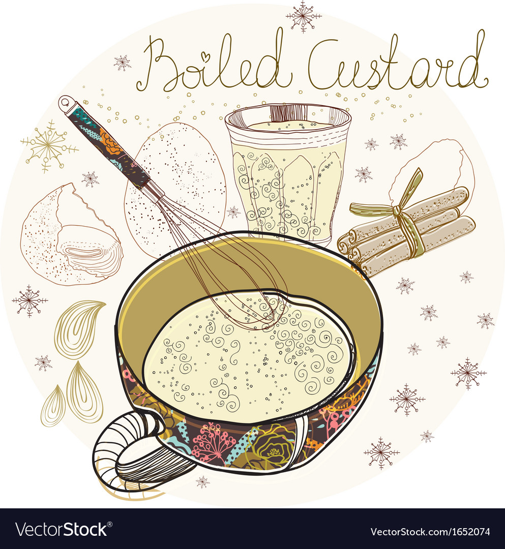 Boiled custard vector | Price: 1 Credit (USD $1)