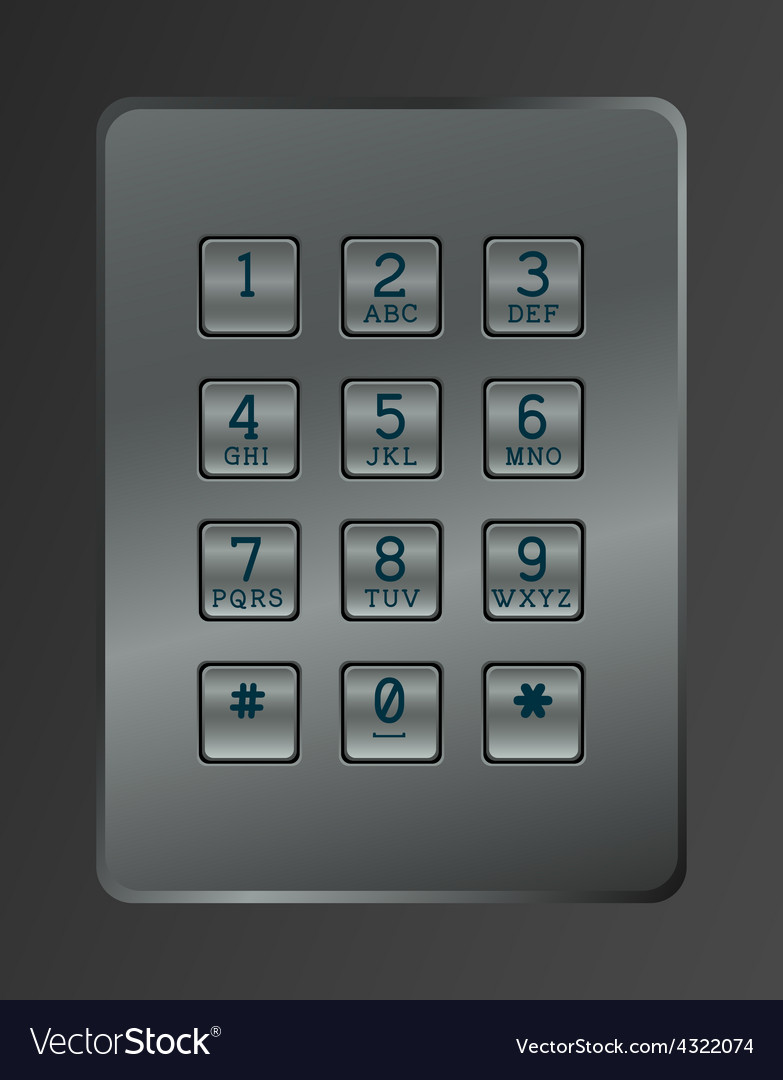 Digital dial of security lock vector | Price: 1 Credit (USD $1)