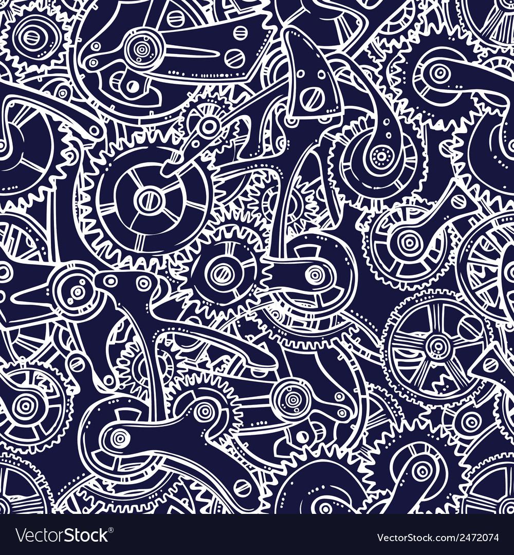 Engineers sketch seamless pattern vector | Price: 1 Credit (USD $1)