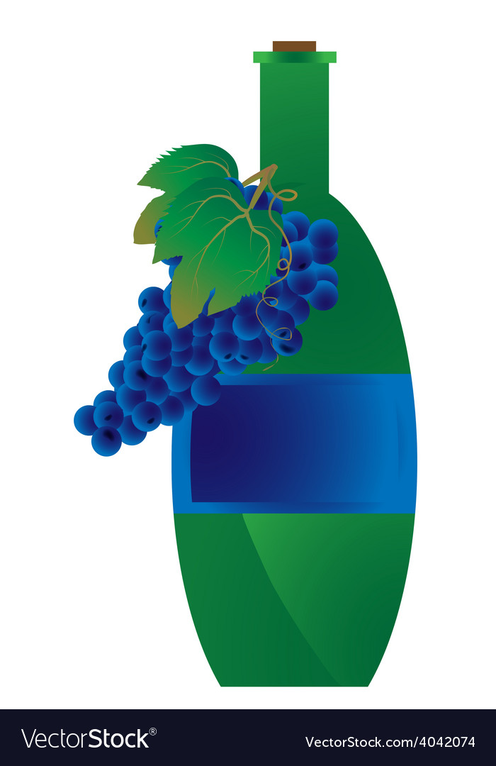 Green bottle of wine vector | Price: 1 Credit (USD $1)