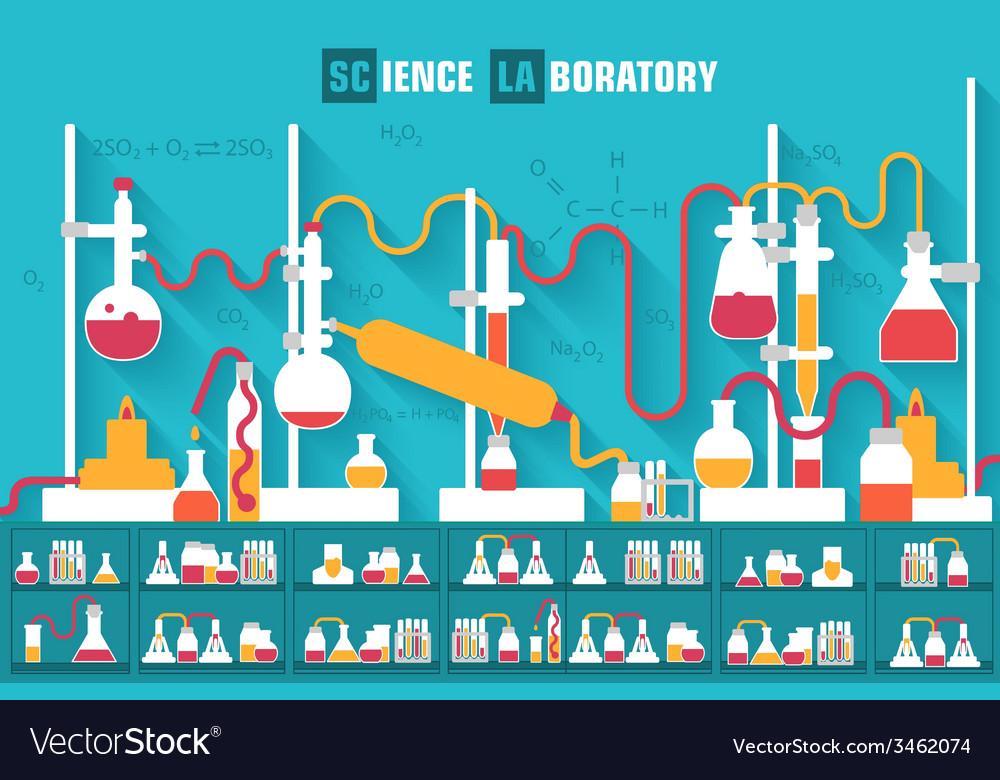 Retro experiments in a chemistry laboratory vector   Price: 1 Credit (USD $1)