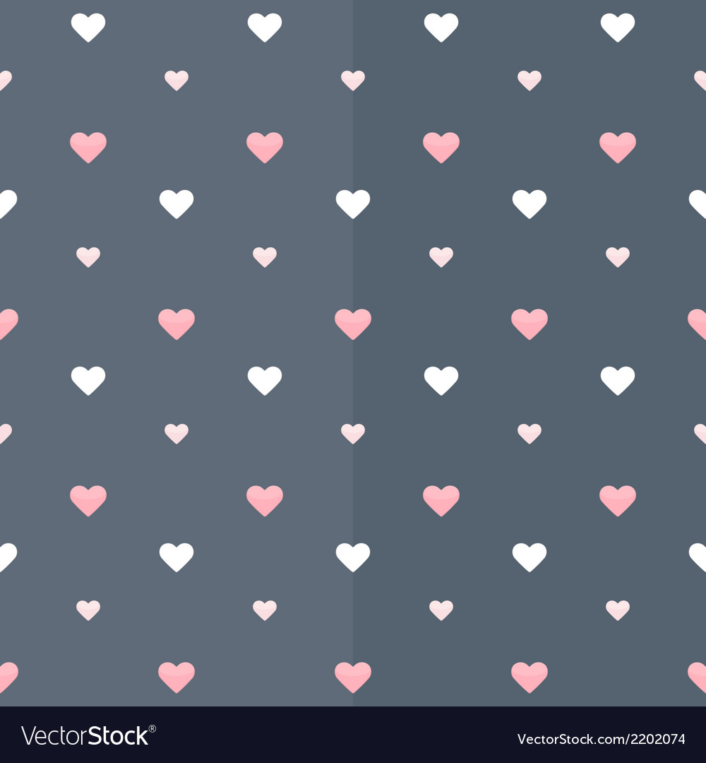 Seamless pattern with white and pink hearts on a vector | Price: 1 Credit (USD $1)