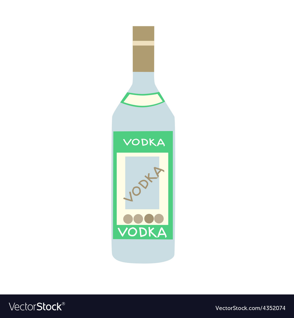 Stylized bottle of russian vodka vector | Price: 1 Credit (USD $1)