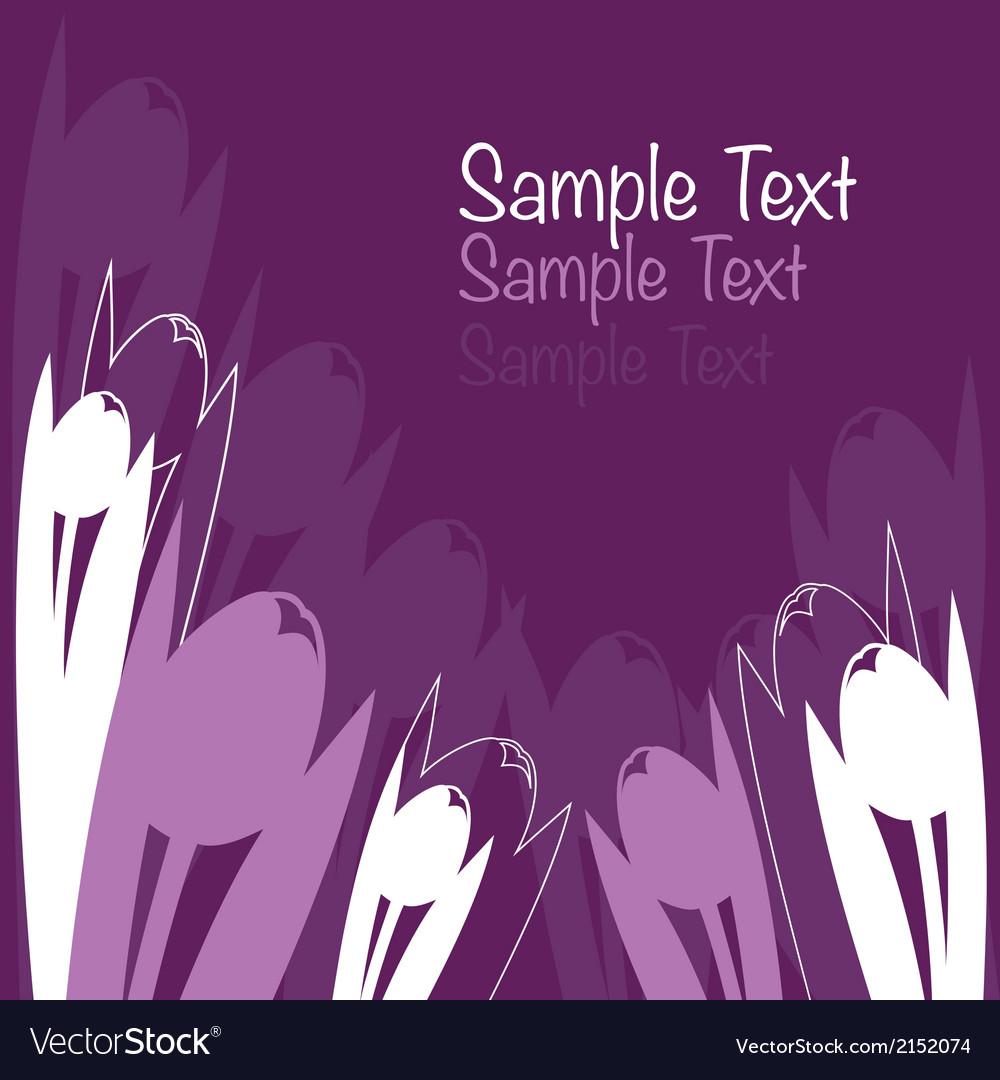 Tulip background vector | Price: 1 Credit (USD $1)