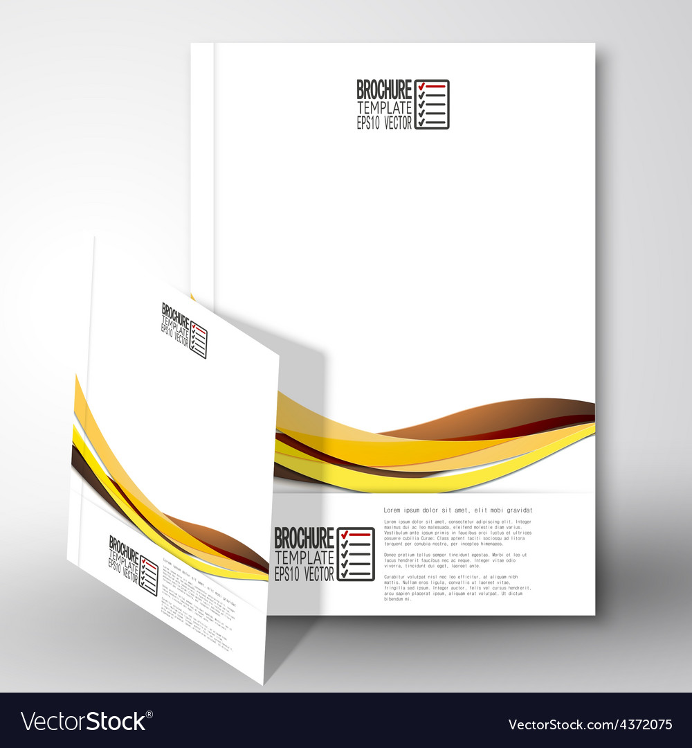 Colored wave background brochure flyer or report vector | Price: 1 Credit (USD $1)