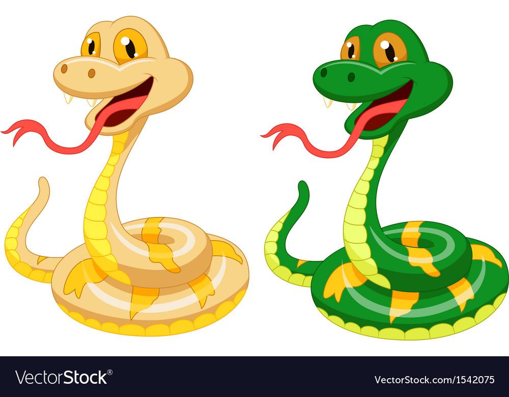 Cute snake cartoon vector | Price: 1 Credit (USD $1)