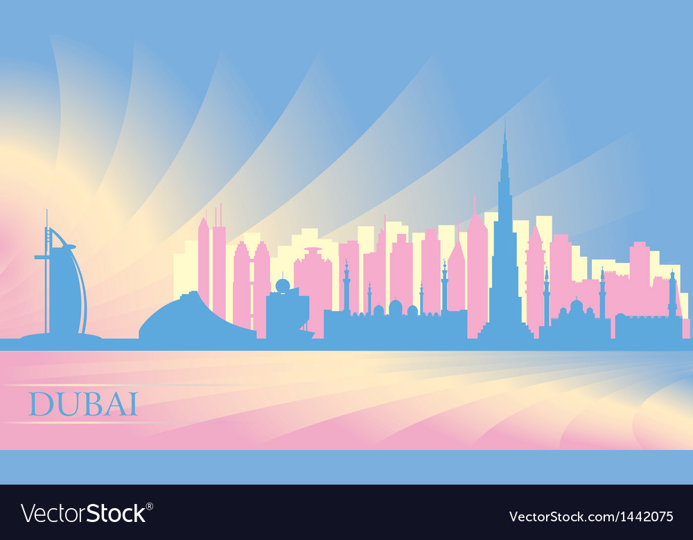 Dubai city skyline vector | Price: 1 Credit (USD $1)