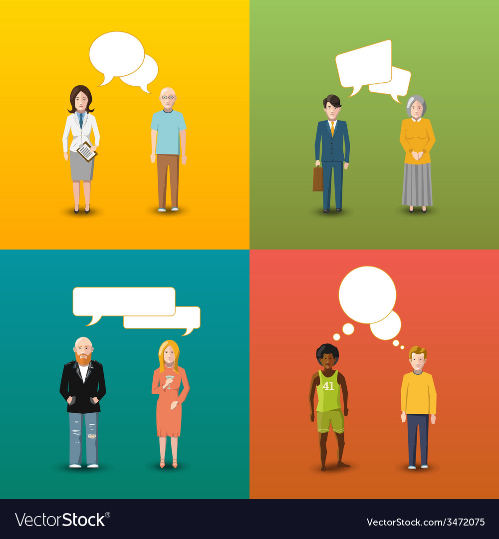 Four couples of people who are engaging in vector | Price: 1 Credit (USD $1)