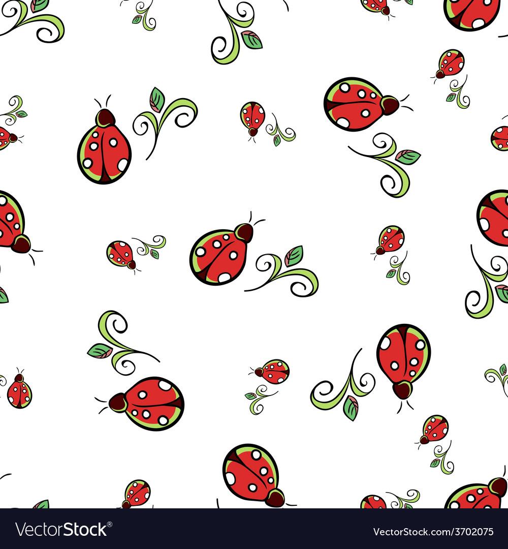 Ladybug white pattern vector | Price: 1 Credit (USD $1)