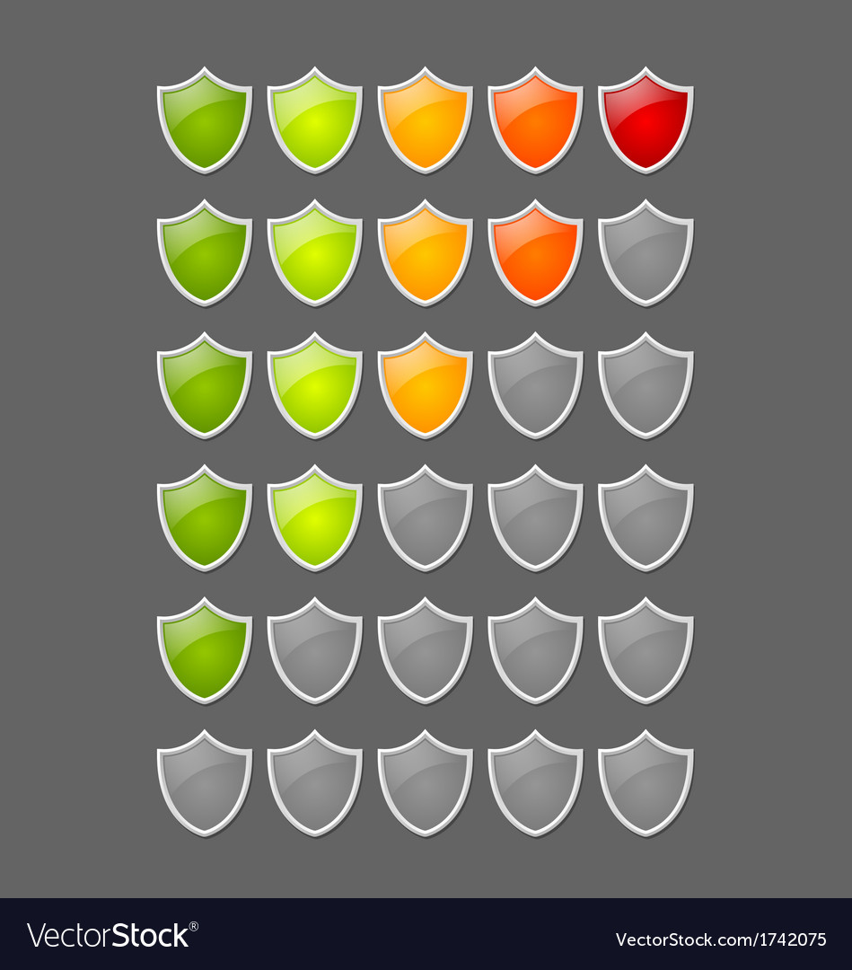 Rating shields vector | Price: 1 Credit (USD $1)