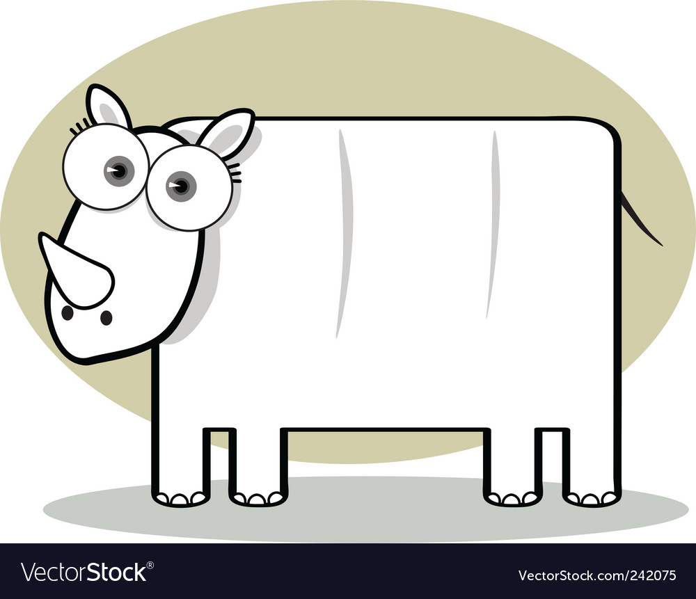 Square animal  rhino vector | Price: 1 Credit (USD $1)
