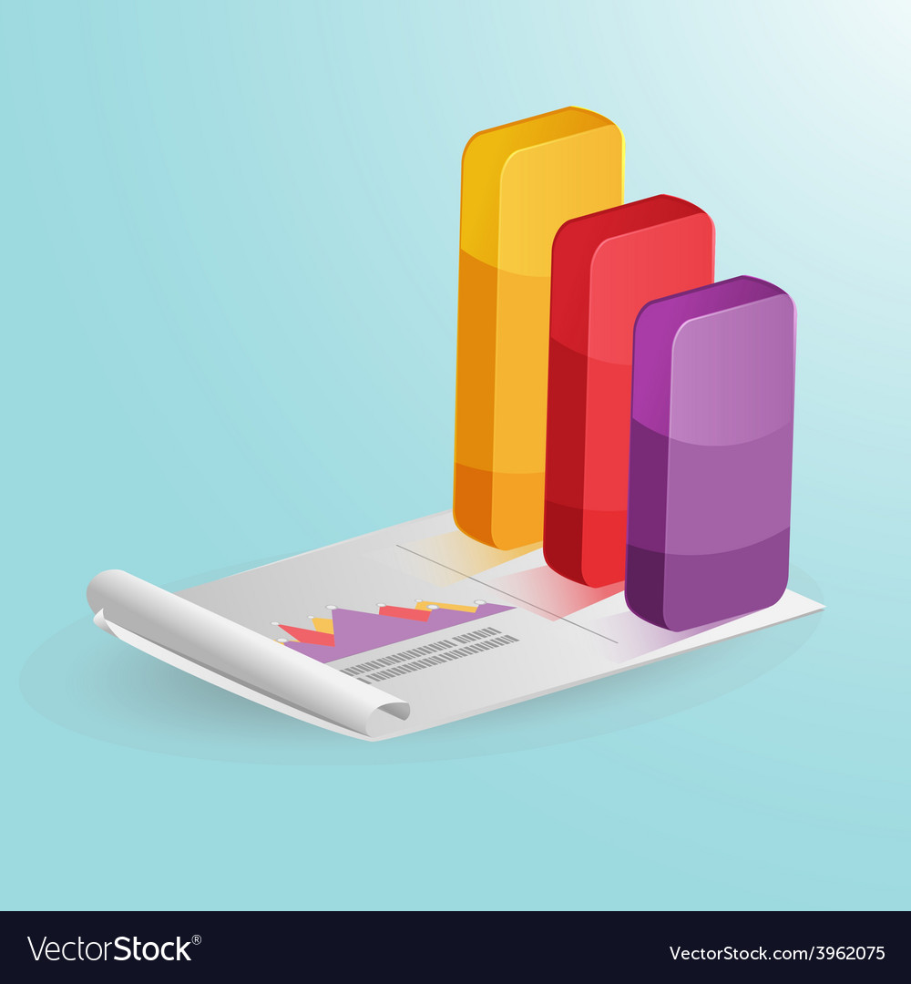 Stock market column graph colorful vector | Price: 1 Credit (USD $1)