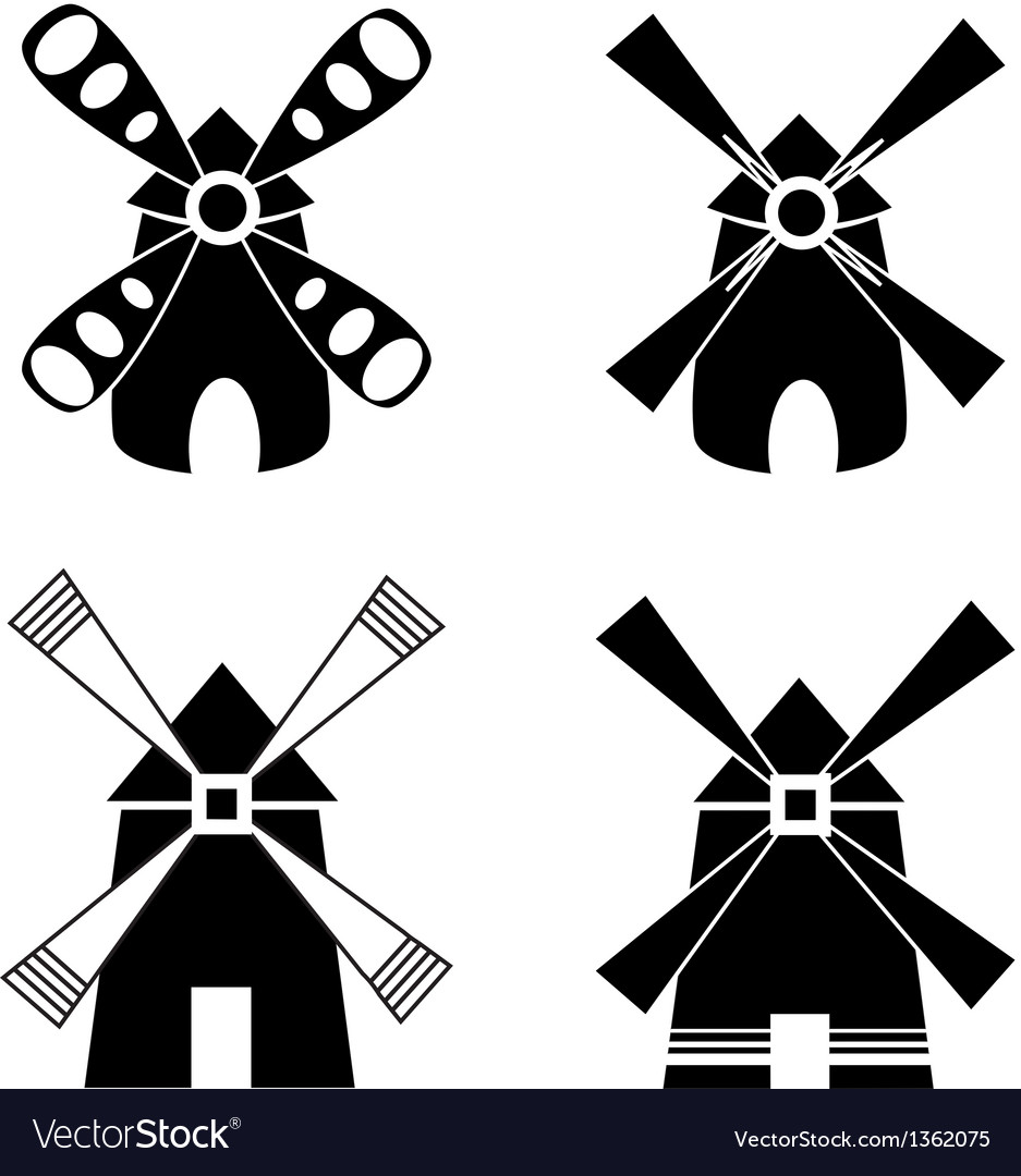 Strong windmill vector | Price: 1 Credit (USD $1)