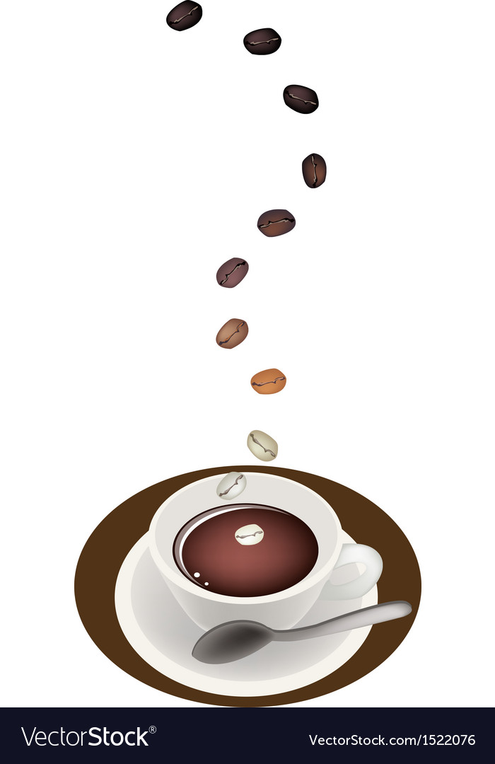 A delicious hot coffee with roasted tamarind beans vector | Price: 1 Credit (USD $1)