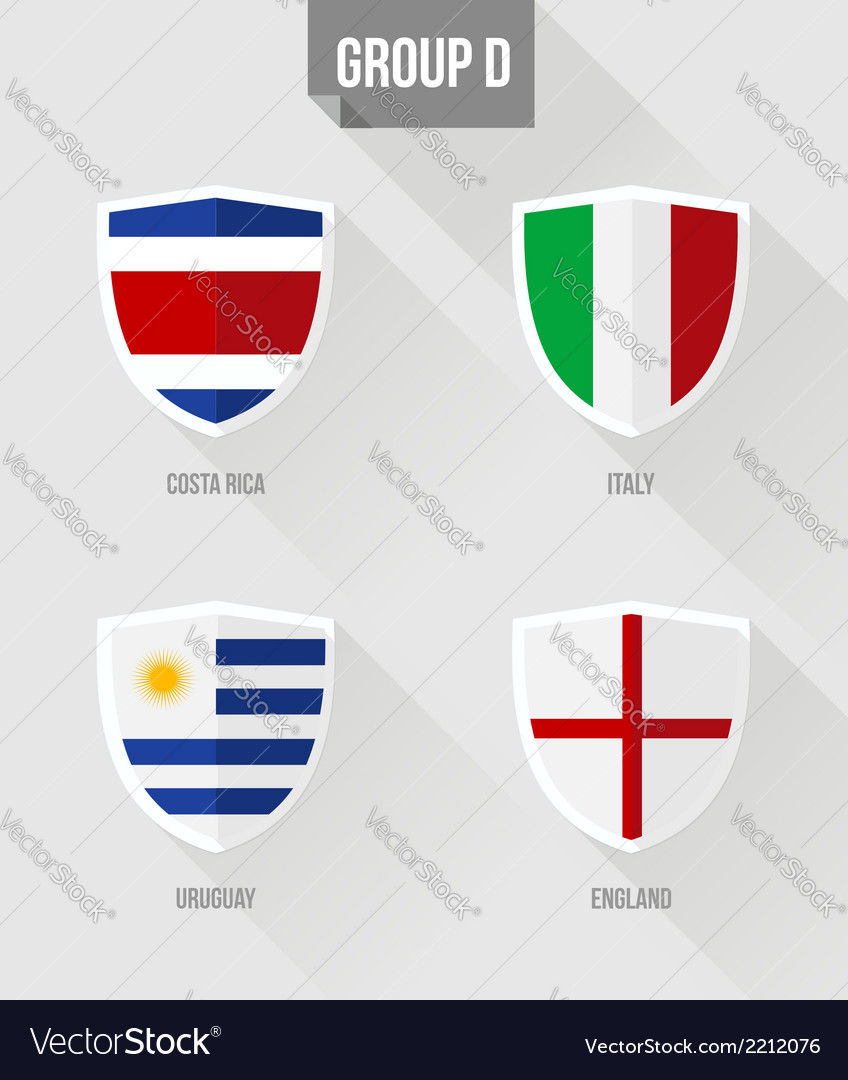 Brazil soccer championship 2014 group d flags vector | Price: 1 Credit (USD $1)