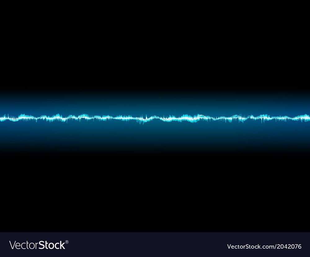 Bright sound wave on a dark blue eps 10 vector | Price: 1 Credit (USD $1)