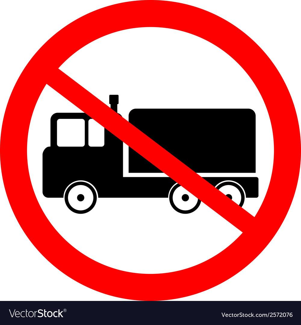 No cargo car road sign vector | Price: 1 Credit (USD $1)