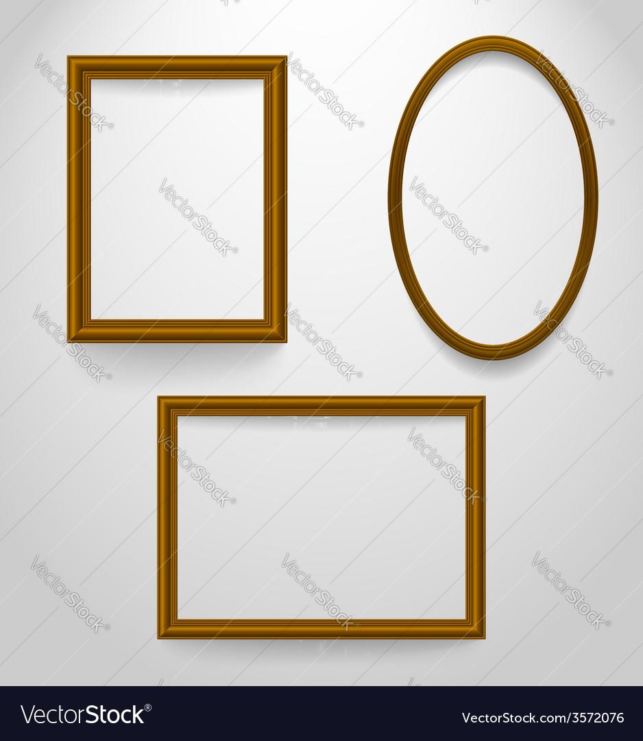Set of wooden frames vector | Price: 1 Credit (USD $1)