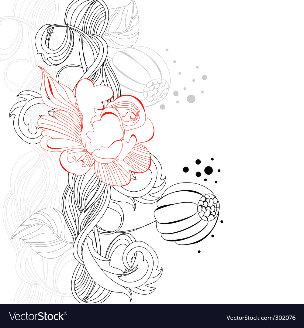 Template for decorative card vector | Price: 1 Credit (USD $1)