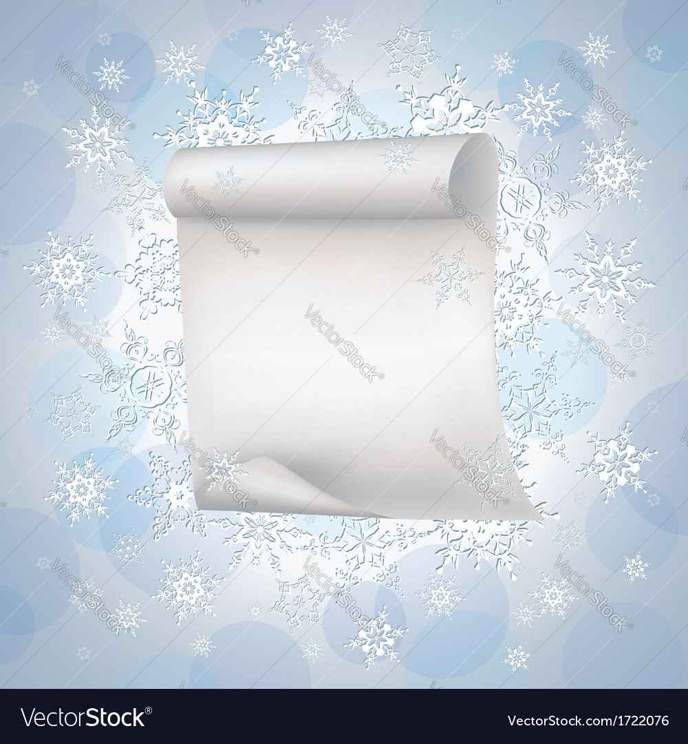 Winter background with paper and snowflakes vector | Price: 1 Credit (USD $1)