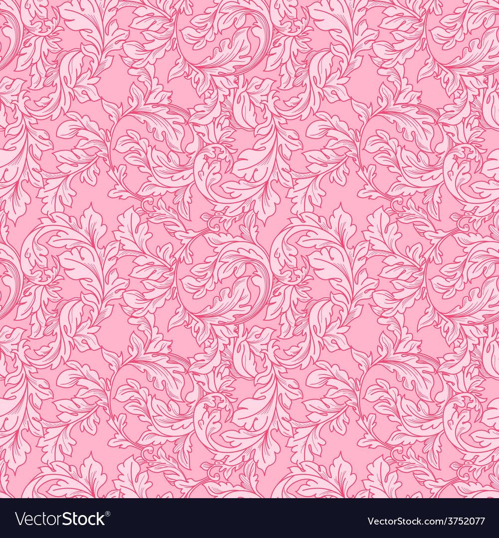 Baroque floral pattern vector | Price: 1 Credit (USD $1)