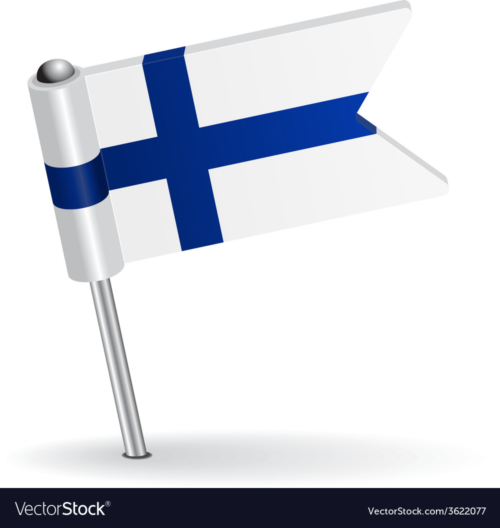 Finnish pin icon flag vector | Price: 1 Credit (USD $1)
