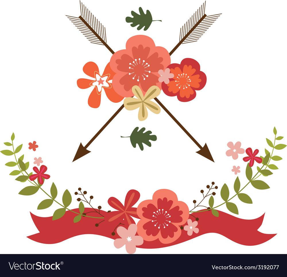 Floral festive designs vector | Price: 1 Credit (USD $1)