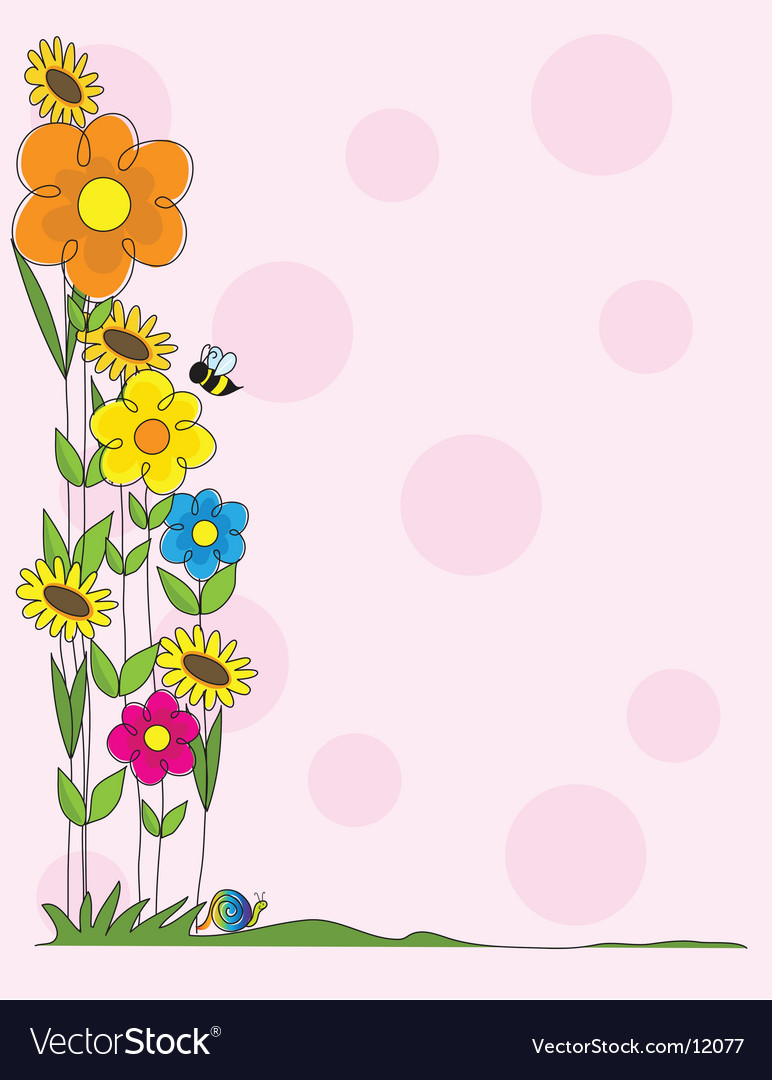 Flower border vector