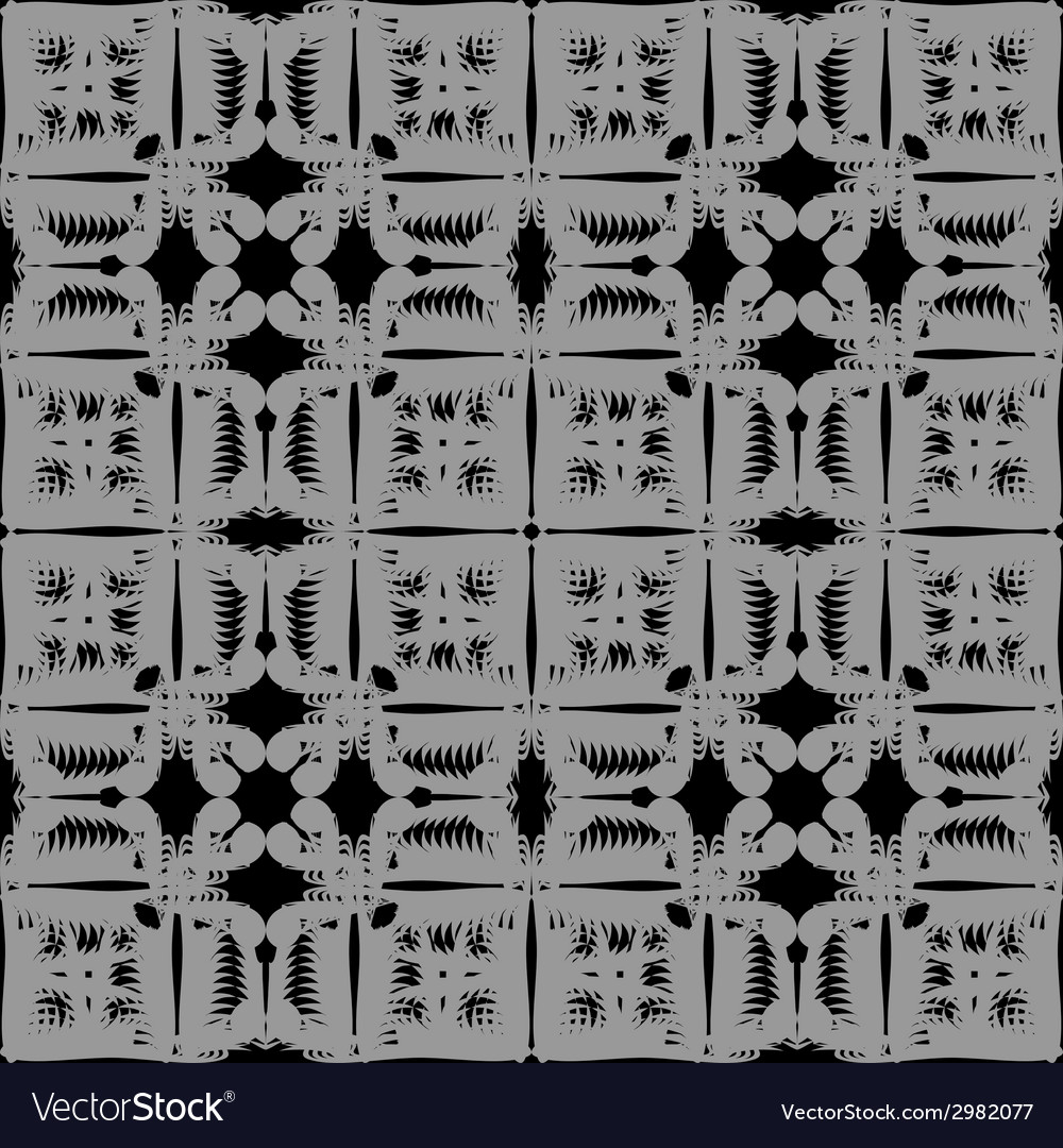 Gray pattern seamless on black background vector   Price: 1 Credit (USD $1)