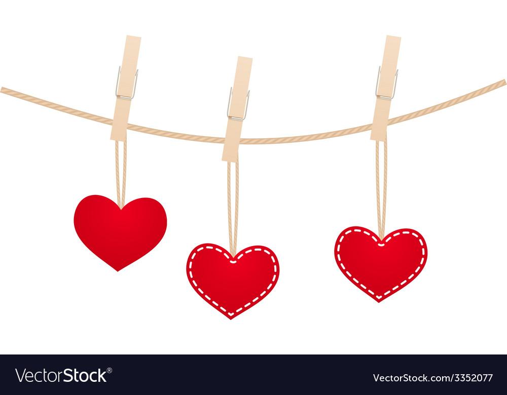 Hearts clothespins 13 vector | Price: 1 Credit (USD $1)