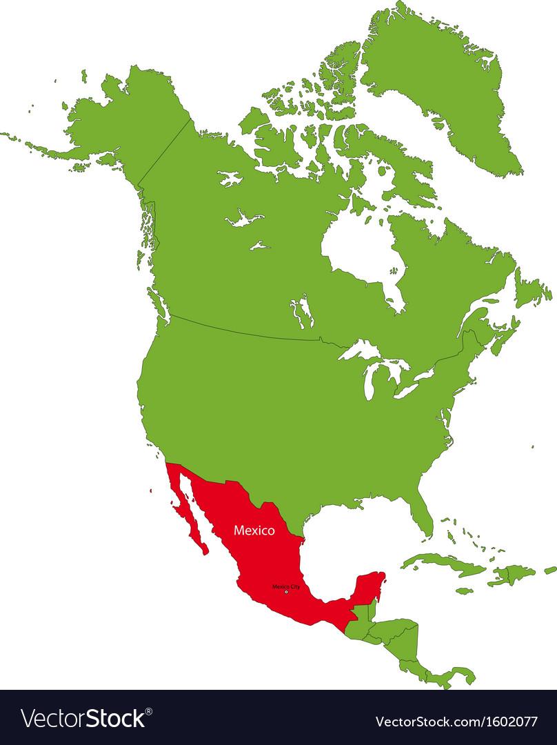 Location of mexico vector   Price: 1 Credit (USD $1)