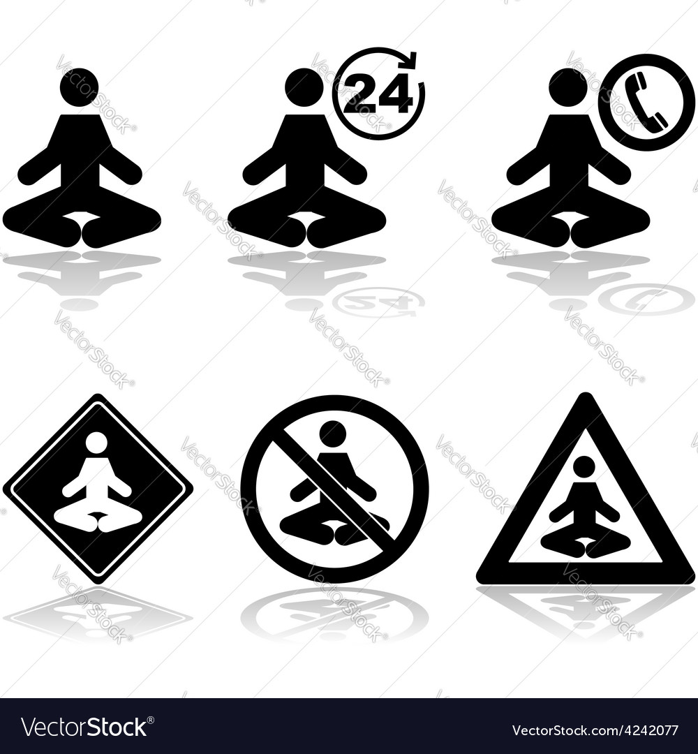 Meditation icons vector | Price: 1 Credit (USD $1)