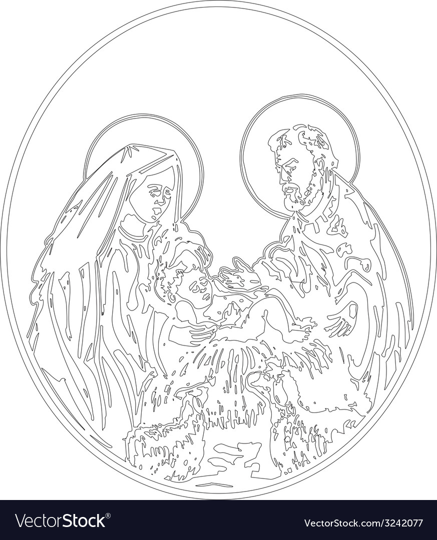 Nativity of jesus vector | Price: 1 Credit (USD $1)