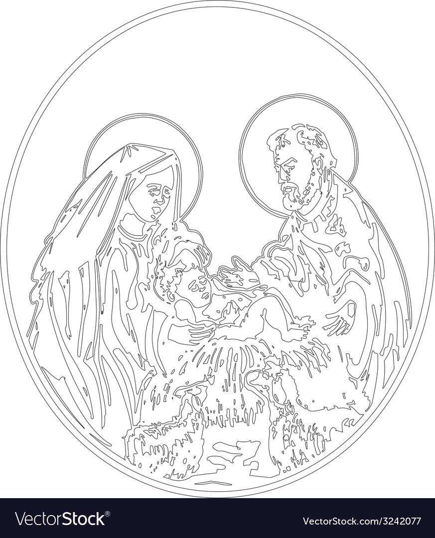 Nativity of jesus vector | Price: 1 Credit (USD $1)