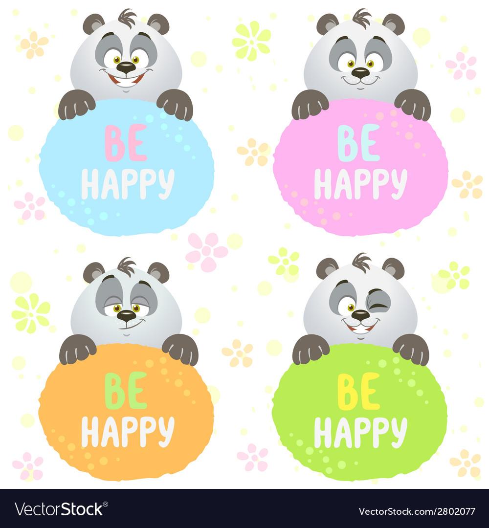 Panda set vector   Price: 1 Credit (USD $1)