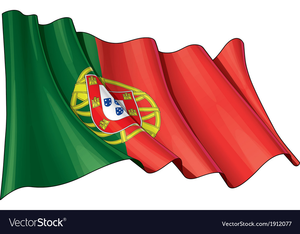 Portugal flag vector | Price: 1 Credit (USD $1)