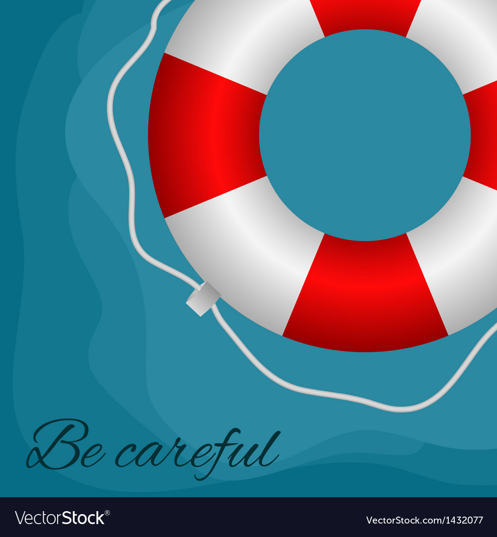 Red buoy vector | Price: 1 Credit (USD $1)