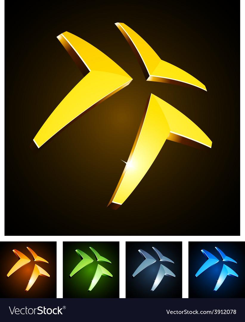 3d vibrant triangle vector | Price: 1 Credit (USD $1)