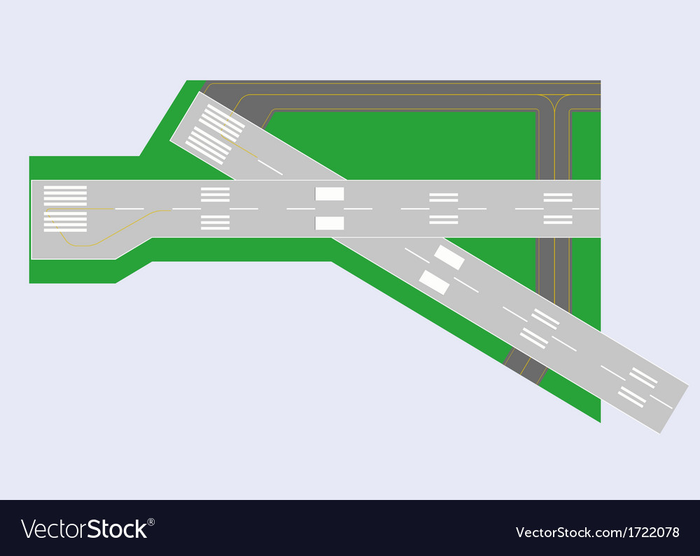 Airport runway top view vector | Price: 1 Credit (USD $1)