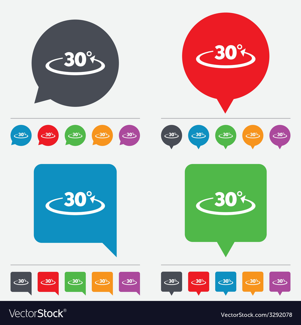 Angle 30 degrees sign icon geometry math symbol vector   Price: 1 Credit (USD $1)